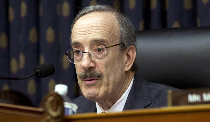 In this Wednesday, Feb. 13, 2019, file photo, House Foreign Affairs Committee Chairman Rep. Eliot Engel D-N.Y., speaks during the House Foreign Affairs subcommittee hearing on Venezuela at Capitol Hill in Washington. (AP Photo/Jose Luis Magana, File)