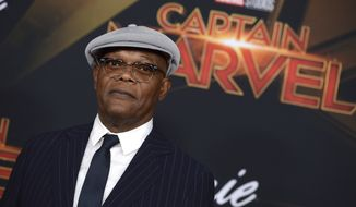 "Samuel L. Jackson arrives at the world premiere of ""Captain Marvel"" on Monday, March 4, 2019, at the El Capitan Theatre in Los Angeles. (Photo by Jordan Strauss/Invision/AP)"