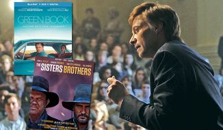 "Hugh Jackman is Gary Hart in ""The Front Runner,"" now available in the Blu-ray format along with ""Green Book"" and ""The Sisters Brothers."""