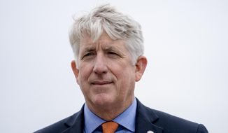 In this Feb. 26, 2018 photo Virginia Attorney General Mark Herring attends a news conference near the White House in Washington. Herring says he's focused on repairing the damage he caused by recently revealing he wore blackface in college, but he hasn't ruled out a future run for governor. Herring made the comments Monday, March 4, 2019 during an interview on the The Kojo Nnamdi Show on WAMU in Washington. (AP Photo/Andrew Harnik)