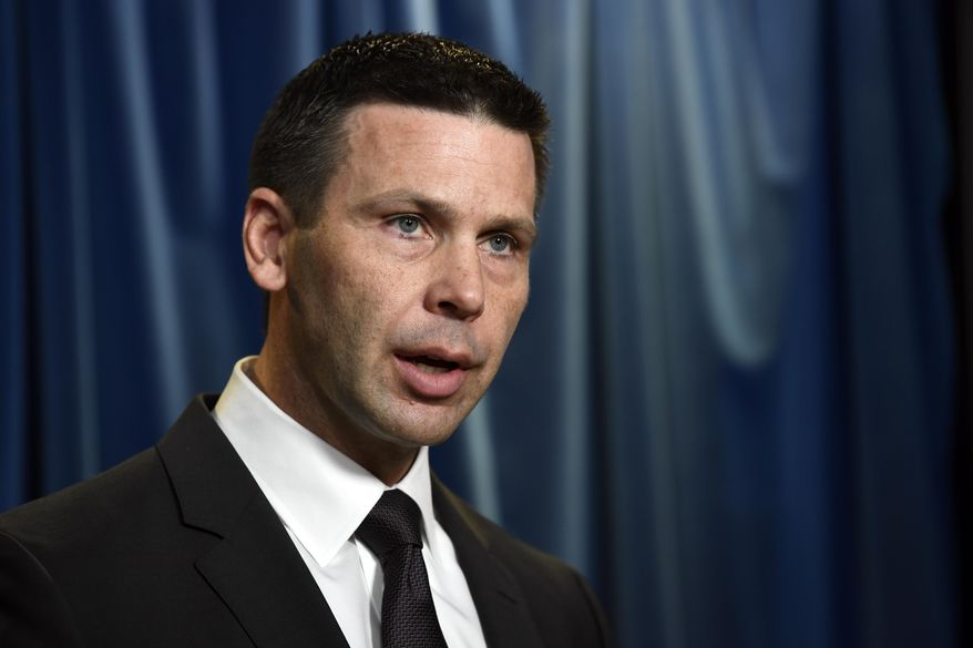U.S. Customs and Border Patrol commissioner Kevin McAleenan speaks during a news conference in Washington, Tuesday, March 5, 2019. (AP Photo/Susan Walsh)