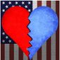 Illustration on the romantic damage done by partisan politics by Alexander Hunter/The Washington Times