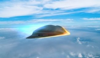 The Pentagon's research arm, DARPA, has awarded Raytheon a $63.3 million contract for the Tactical Boost Glide hypersonic weapons program (TBG). (Image: Raytheon, concept art screenshot)