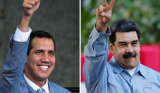 Both House Republicans and Democrats had harsh words Thursday for Venezuelan president Nicolas Maduro (right) and supported the international drive to force him out in favor of opposition leader and self-proclaimed interim president Juan Guaido. (ASSOCIATED PRESS photographs)