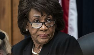 House Financial Services Committee Chair Maxine Waters, D-Calif., leads a hearing to review the Consumer Financial Protection Bureau's mission to focus priority on consumers with CFPB Director Kathy Kraninger, on Capitol Hill in Washington, Thursday, March 7, 2019. (AP Photo/J. Scott Applewhite) ** FILE **