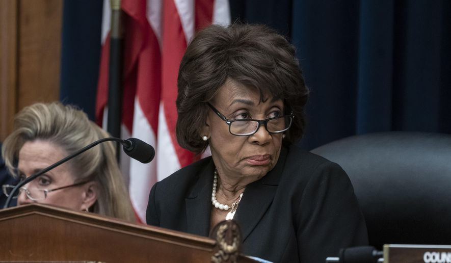 House Financial Services Committee Chair Maxine Waters, D-Calif., leads a hearing to review the Consumer Financial Protection Bureau's mission to focus priority on consumers with the CFPB Director Kathy Kraninger, on Capitol Hill in Washington, Thursday, March 7, 2019. (AP Photo/J. Scott Applewhite) ** FILE **