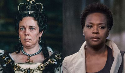 """Olivia Colman in an Academy Award-winning performance co-stars in """"The Favourite"""" and Viola Davis co-stars in """"Widows,"""" both available in the Blu-ray format."""