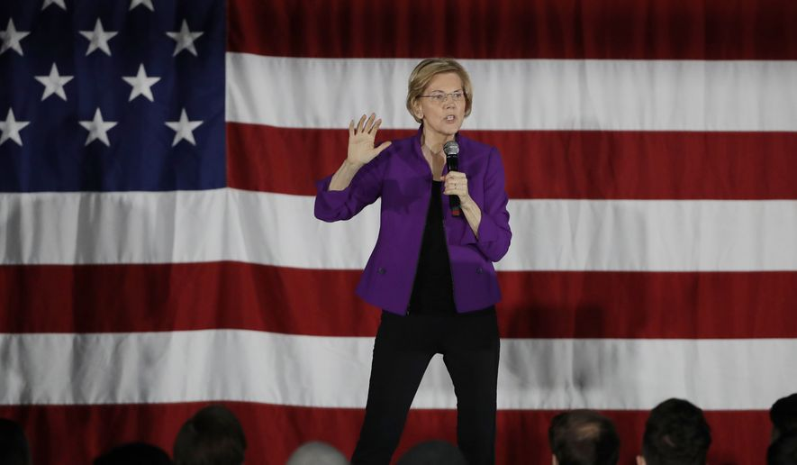 2020 Democratic presidential candidate Sen. Elizabeth Warren speaks to local residents Friday, March 8, 2019, in the Queens borough of New York. (AP Photo/Frank Franklin II)