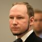 """Anders Behring Breivik, who killed 77 people in two 2011 terrorist attacks in Norway, left a 1,500-page white supremacist manifesto that prosecutors in the case of Coast Guard Lt. Christopher P. Hasson called a """"blueprint for future single-cell or 'lone wolf' terrorist operations."""" (Associated Press/File)"""