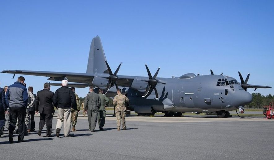 The AC-130J Ghostrider was delivered to Air Force Special Operations Command on March 6, 2019, in Crestview, Florid. (Image: U.S. Air Force, Senior Airman Caleb Pavao)