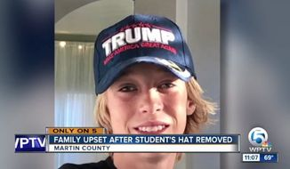 Police in South Florida are investigating the possible assault of 14-year-old Gunnar Johansson after video reportedly showed a bus attendant snatching a pro-President Trump hat off the boy's head. (WPTV)