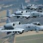 "The Fairchild Republic A-10 Thunderbolt II is a single-seat, twin turbofan engine, straight wing jet aircraft developed by Fairchild-Republic for the United States Air Force. Commonly referred to by the nicknames ""Warthog"" or ""Hog"", although the A-10's official name comes from the Republic P-47 Thunderbolt, a World War II fighter-bomber effective at attacking ground targets. The A-10 was designed for close air support of friendly ground troops, attacking armored vehicles and tanks, and providing quick-action support against enemy ground forces. It entered service in 1976 and is the only production-built aircraft that has served in the USAF that was designed solely for CAS. Its secondary mission is to provide forward air controller  airborne (FAC-A) support, by directing other aircraft in attacks on ground targets. Aircraft used primarily in this role are designated OA-10. The A-10 was intended to improve on the performance of the A-1 Skyraider and its lesser firepower. The A-10 was designed around the 30 mm GAU-8 Avenger rotary cannon. Its airframe was designed for durability, with measures such as 1,200 pounds of titanium armor to protect the cockpit and aircraft systems, enabling it to absorb a significant amount of damage and continue flying. Its short takeoff and landing capability permits operation from airstrips close to the front lines, and its simple design enables maintenance with minimal facilities. The A-10 served in the Gulf War, the American led intervention against Iraq's invasion of Kuwait, where the A-10 distinguished itself. The A-10 also participated in other conflicts such as in Grenada, the Balkans, Afghanistan, Iraq, and against Islamic State in the Middle East. The A-10A single-seat variant was the only version produced, though one pre-production airframe was modified into the YA-10B twin-seat prototype to test an all-weather night capable version. In 2005, a program was started to upgrade remaining A-10A aircraft to the A-10C configuration,"