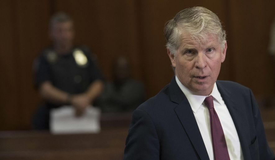 In this Sept. 12, 2018, file photo, Manhattan District Attorney Cyrus Vance Jr. speaks to reporters after a hearing in Manhattan criminal court in New York. (AP Photo/Mary Altaffer, File) **FILE**
