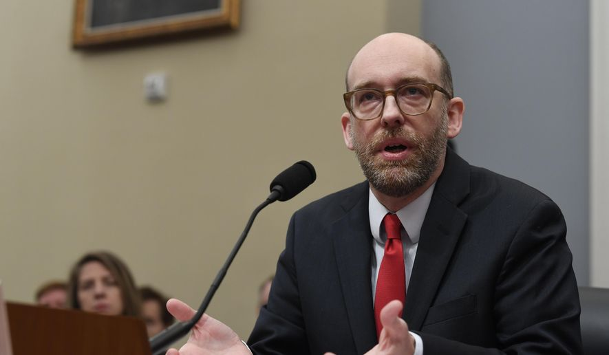 Office of Management and Budget Acting Director Russell Vought testifies before the House Budget Committee on Capitol Hill in Washington, Tuesday, March 12, 2019, during a hearing on the fiscal year 2020 budget. (AP Photo/Susan Walsh) ** FILE **