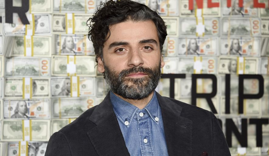 """Actor Oscar Isaac attends the world premiere of """"Triple Frontier"""" at Jazz at Lincoln Center on Sunday, March 3, 2019, in New York. (Photo by Evan Agostini/Invision/AP)"""