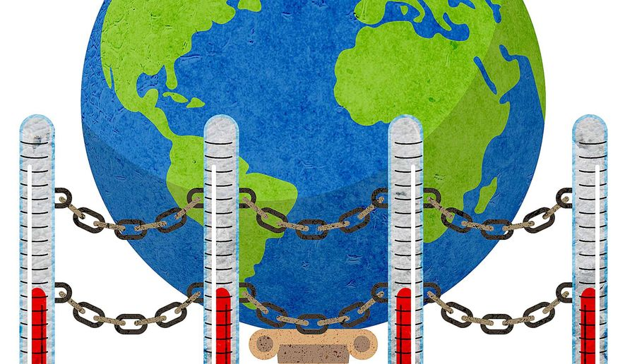 Protecting Alarmist Climate Claims Illustration by Greg Groesch/The Washington Times