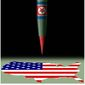 Illustration on living with a nuclear-armd North Korea by Alexander Hunter/The Washington Times
