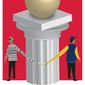 Illustration on the college bribery scandal by Linas Garsys/The Washington Times