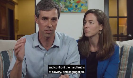 Former Texas congressman Beto O'Rourke addresses supporters of his 2020 presidential campaign, March 14, 2019. (Image: Twitter, Beto O'Rourke video screenshot)
