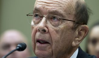 Commerce Secretary Wilbur Ross testifies during the House Oversight Committee hearing on Capitol Hill in Washington, Thursday, March 14, 2019. (AP Photo/Jose Luis Magana) **FILE**