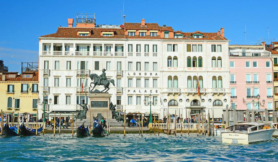 The Londra Palace from the San Marco Basin (Photograph by Alison Reynolds / Special to The Washington Times)