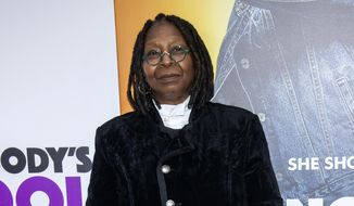 """In this Oct. 28, 2018, file photo, Whoopi Goldberg attends the world premiere of """"Nobody's Fool"""" in New York. (Photo by Charles Sykes/Invision/AP, File)"""