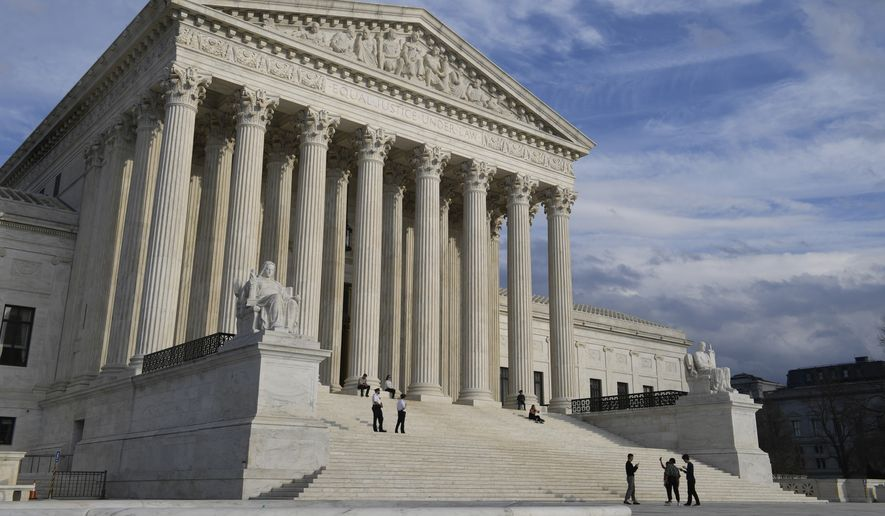 A view of the Supreme Court in Washington, Friday, March 15, 2019. (AP Photo/Susan Walsh) ** FILE **