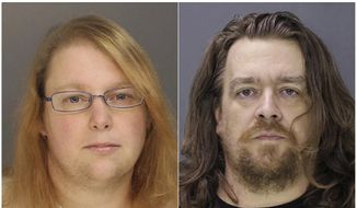 This combination of file photos provided on Sunday, Jan. 8, 2017, by the Bucks County District Attorney shows Sara Packer, left, and Jacob Sullivan. Sullivan pleaded guilty Tuesday, Feb. 19, 2019, to first-degree murder in the 2016 death of 14-year-old Grace Packer. Sullivan pleaded guilty to all charges in the 2016 death of Grace Packer. The penalty phase of his trial opens Friday, March 15, 2019 outside Philadelphia. A jury will hear testimony about Sullivan's crimes before deciding on a sentence of either life in prison or death. (Bucks County District Attorney via AP, File) **FILE**