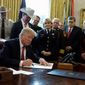 "President Trump staged a high-profile ceremony Friday to sign the first veto of his presidency. With the stroke of a pen, he overruled Congress to protect his emergency declaration for border wall funding. He said Congress had the ""freedom"" to try to stop him, but he had the ""duty"" to counter it. He then took his case to the voters. (Associated Press)"