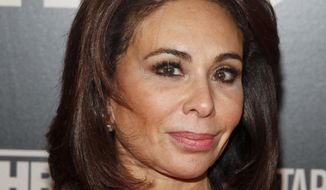 """In this Jan. 28, 2015, file photo, Jeanine Pirro attends the HBO Documentary Series premiere of """"THE JINX: The Life and Deaths of Robert Durst,"""" in New York. Fox News weekend host Pirro's show didn't air Saturday night, March 16, 2019, a week after her comments questioning U.S. Rep. Ilhan Omar over her wearing a Muslim head covering. No explanation was given. (Photo by Andy Kropa/Invision/AP, File)"""