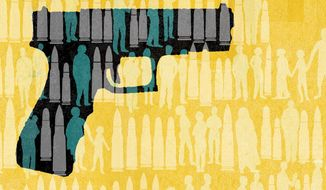 Illustration on mass shootings by Donna Grethen/ Tribune Content Agency