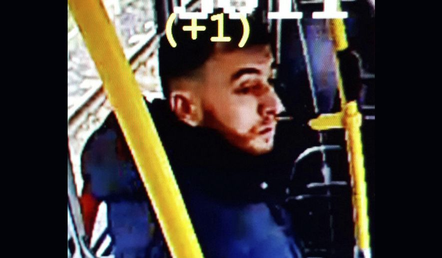 This image made available on Monday March 18, 2019 from the Twitter page of Police Utrecht shows an image of 37 year old Gokman Tanis, who police are looking for in connection with a shooting incident on a tram. Police, including heavily armed officers, flooded the area after the shooting Monday morning on a tram at a busy traffic intersection in a residential neighborhood. (Police Utrecht via AP)