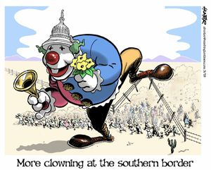 More clowning at the southern border