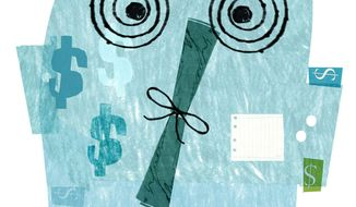 Illustration on student debt by Donna Grethen/Tribune Content Agency