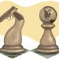 Activists' Chess Pawns Illustration by Greg Groesch/The Washington Times