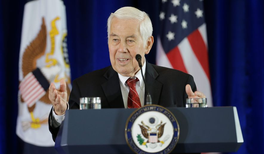 """Even as the rhetoric and overall atmosphere in Washington remains partisan, there is an appetite among many lawmakers for bipartisan problem solving,"" said former Sen. Richard G. Lugar, Indiana Republican. (Associated Press)"