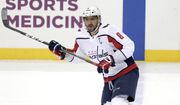 Washington Capitals' Alex Ovechkin skates during an NHL hockey game against the Pittsburgh Penguins in Pittsburgh, Tuesday, March 12, 2019. (AP Photo/Gene J. Puskar)