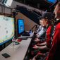 "Gamers play ""NHL 19"" in the Washington Capitals' ""Chel Classic,"" an esports competition held at Capital One Arena on Tuesday, March 19, 2019. (Photo by Heather Kellogg / courtesy of the Washington Capitals)"