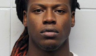 FILE - This undated booking photo provided by the Clay County Sheriff's Office shows Dale Williamson, a former University of South Dakota football player who was accused of raping a woman in a dorm room. Williamson pleaded no contest Monday, March 18, 2019, to a lesser charge of aggravated assault and has been sentenced to 10 years of probation. A no contest plea isn't an admission of guilt but is treated as such for sentencing.(Clay County Sheriff's Office via AP, File)