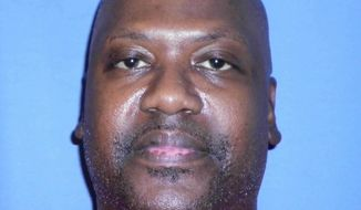 This Aug. 3, 2017, photo provided by Mississippi Department of Corrections shows Curtis Flowers, whose murder case has gone to trial six times. Supreme Court justices are again considering how to keep prosecutors from removing African-Americans from criminal juries for racially biased reasons, this time in a case involving a Mississippi death row inmate who has been tried six times for murder. (Mississippi Department of Corrections via AP)