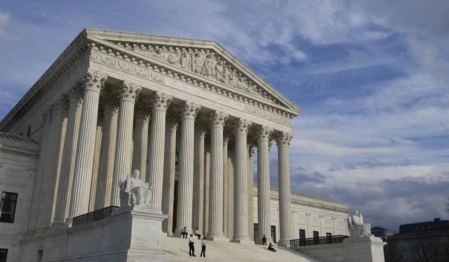 A view of the Supreme Court in Washington, Friday, March 15, 2019. (AP Photo/Susan Walsh)