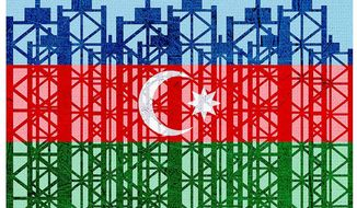 Prospering Azerbaijan Oil Industry Illustration by Greg Groesch/The Washington Times