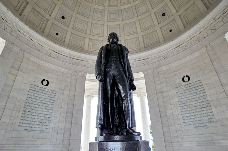 The Thomas Jefferson Memorial is seen in this general view. Monday, March 11, 2019, in Washington D.C. (AP Photo/Mark Tenally)