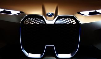 A BMWi car is pictured during the earnings press conference in Munich, Germany, Wednesday, March 20, 2019. (AP Photo/Matthias Schrader)