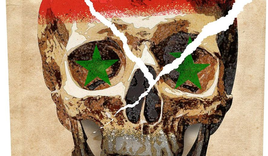 Dividing the Syrian Corpse Illustration by Greg Groesch/The Washington Times