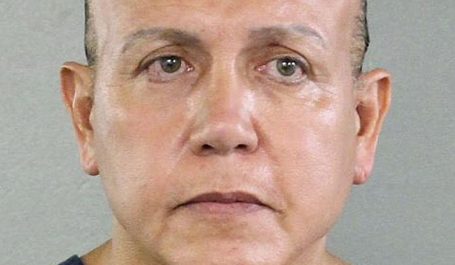 This Aug. 30, 2015, file photo released by the Broward County Sheriff's office shows Cesar Sayoc in Miami. The Florida man who authorities say sent pipe bombs to prominent critics of President Donald Trump, is expected to plead guilty in Manhattan federal court on Thursday, March 21, 2019. (Broward County Sheriff's Office via AP, File)