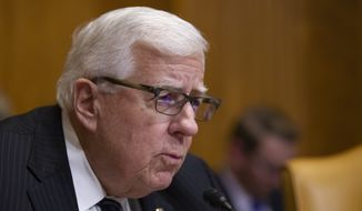 """Chairman Mike Enzi, R-Wyo., speaks during a hearing of the Senate Budget Committee on the """"Budget and Economic Outlook for FY2019-2029,"""" on Capitol Hill, Tuesday, Jan. 29, 2019, in Washington. (AP Photo/Alex Brandon)"""
