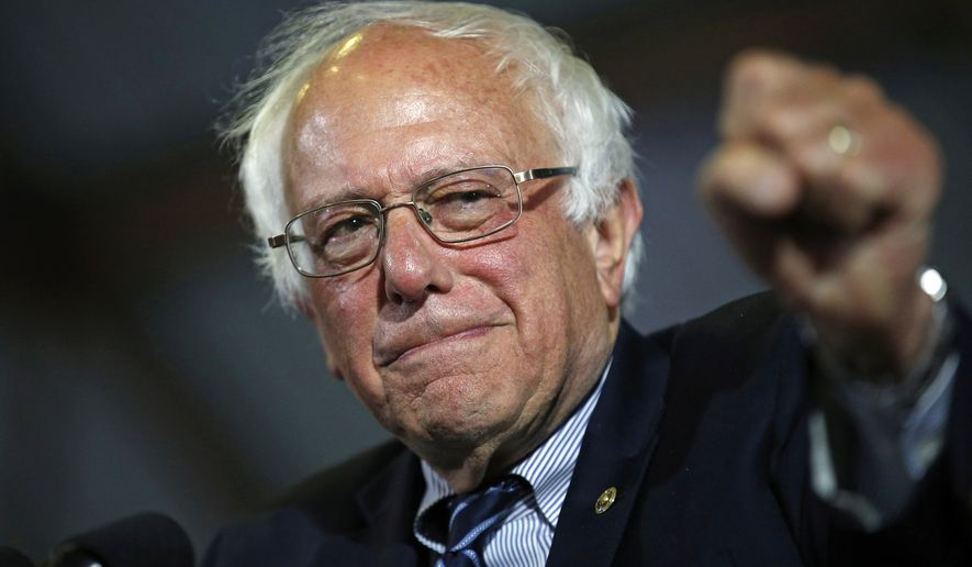 In this June 7, 2016, file photo, Democratic presidential candidate Sen. Bernie Sanders, I-Vt., speaks at a rally in Santa Monica, Calif. (AP Photo/John Locher, File)