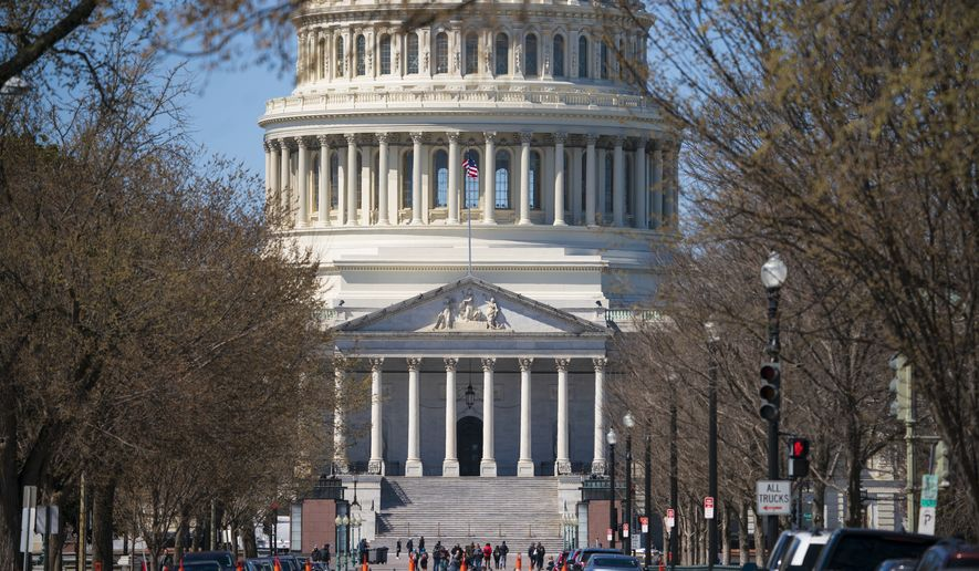 The Capitol is seen in Washington, Saturday, March 23, 2019. Attorney General William Barr was reviewing the special counsel's confidential report on the Russia investigation to determine what should be made public after a nearly two-year probe that cast a dark shadow over Donald Trump's presidency. (AP Photo/J. Scott Applewhite)