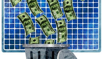 Green New Deal Waste of Money Illustration by Greg Groesch/The Washington Times